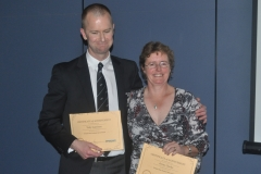 Tony Garrison and Jenny Clarke  -  Hall of Fame inductees